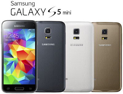 Samsung Galaxy S5 mini Specifications - LAUNCH Announced 2014, June Versions G800F (Europe); G800A (AT&T); G800HQ (Turkey); G800H (USA); G800M (LATAM); G800R4 (US Cellular); G800Y (New Zealand) DISPLAY Type Super AMOLED capacitive touchscreen, 16M colors Size 4.5 inches (~65.7% screen-to-body ratio) Resolution 720 x 1280 pixels (~326 ppi pixel density) Multitouch Yes  - TouchWiz UI BODY Dimensions 131.1 x 64.8 x 9.1 mm (5.16 x 2.55 x 0.36 in) Weight 120 g (4.23 oz) SIM Micro-SIM  - IP67 certified - dust and water resistant - Water resistant up to 1 meter and 30 minutes PLATFORM OS Android OS, v4.4.2 (KitKat), planned upgrade to v5.1.1 (Lollipop) CPU Quad-core 1.4 GHz Cortex-A7 Chipset Exynos 3470 Quad GPU Mali-400MP4 MEMORY Card slot microSD, up to 64 GB (dedicated slot) Internal 16 GB, 1.5 GB RAM CAMERA Primary 8 MP, f/2.4, 31mm, autofocus, LED flash Secondary 2.1 MP, 1080p@30fps Features Geo-tagging, touch focus, face detection, HDR, panorama Video 1080p@30fps Video 1080p@30fps NETWORK Technology GSM / HSPA / LTE 2G bands 2G bands  3G bands  4G bands  3G bands HSDPA 850 / 900 / 1900 / 2100   4G bands LTE band 1(2100), 3(1800), 5(850), 7(2600), 8(900), 20(800) - G800F  LTE band 2(1900), 4(1700/2100), 5(850), 12(700), 17(700) - G800R4   LTE band 1(2100), 3(1800), 7(2600), 28(700) - G800Y Speed 42.2(LTE)/21.1(3G)/5.76 Mbps, LTE Cat4 150/50 Mbps GPRS Yes EDGE Yes COMMS WLAN Wi-Fi 802.11 a/b/g/n, dual-band, Wi-Fi Direct, hotspot NFC YeYes (LTE model only) GPS Yes, with A-GPS, GLONASS USB microUSB v2.0 Radio No Bluetooth v4.0, A2DP, EDR, LE, aptX FEATURES Sensors Fingerprint, accelerometer, gyro, proximity, compass, heart rate Messaging  Messaging SMS(threaded view), MMS, Email, Push Mail, IM Browser HTML5 Java No SOUND Alert types Vibration; MP3, WAV ringtones Loudspeaker Yes 3.5mm jack Yes BATTERY  Removable Li-Ion 2100 mAh battery Stand-by  Talk time Up to 10 h (3G) Music play Up to 47 h MISC Colors Charcoal Black, Shimmery White, Electric Blue and Copper Gold SAR US 0.63 W/kg (head)     0.82 W/kg (body)     SAR EU 0.97 W/kg (head)     0.56 W/kg (body)      - Dropbox (50 GB cloud storage) - MP4/DivX/XviD/WMV/H.264 player - MP3/WAV/eAAC+/WMA/FLAC player - Photo/video editor - Document viewer