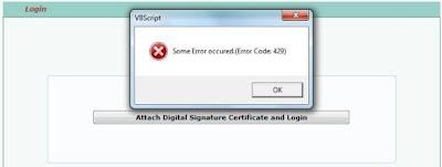 Error Code 429, BVScript Error