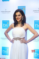 Tapsee Pannu looks Beautiful in White Sleeveless Gown Exclusive  Pics 05.jpg