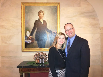 Rabbi Jason Miller and Elissa Miller at The White House Hanukkah Party