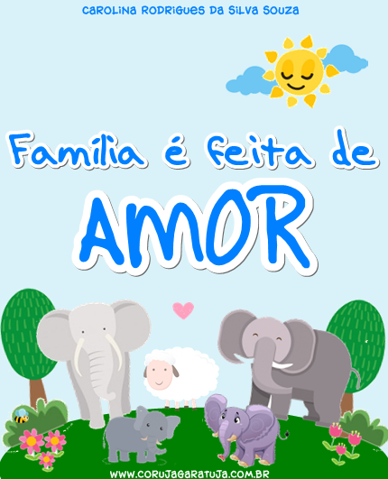 Fam lia feita de amor coruja garatuja for Tipos de familia pdf
