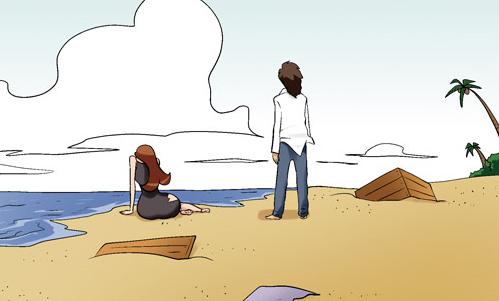 Kim Chi & Củ Cải (bộ mới) phần 299: Lạc vào hoang đảo