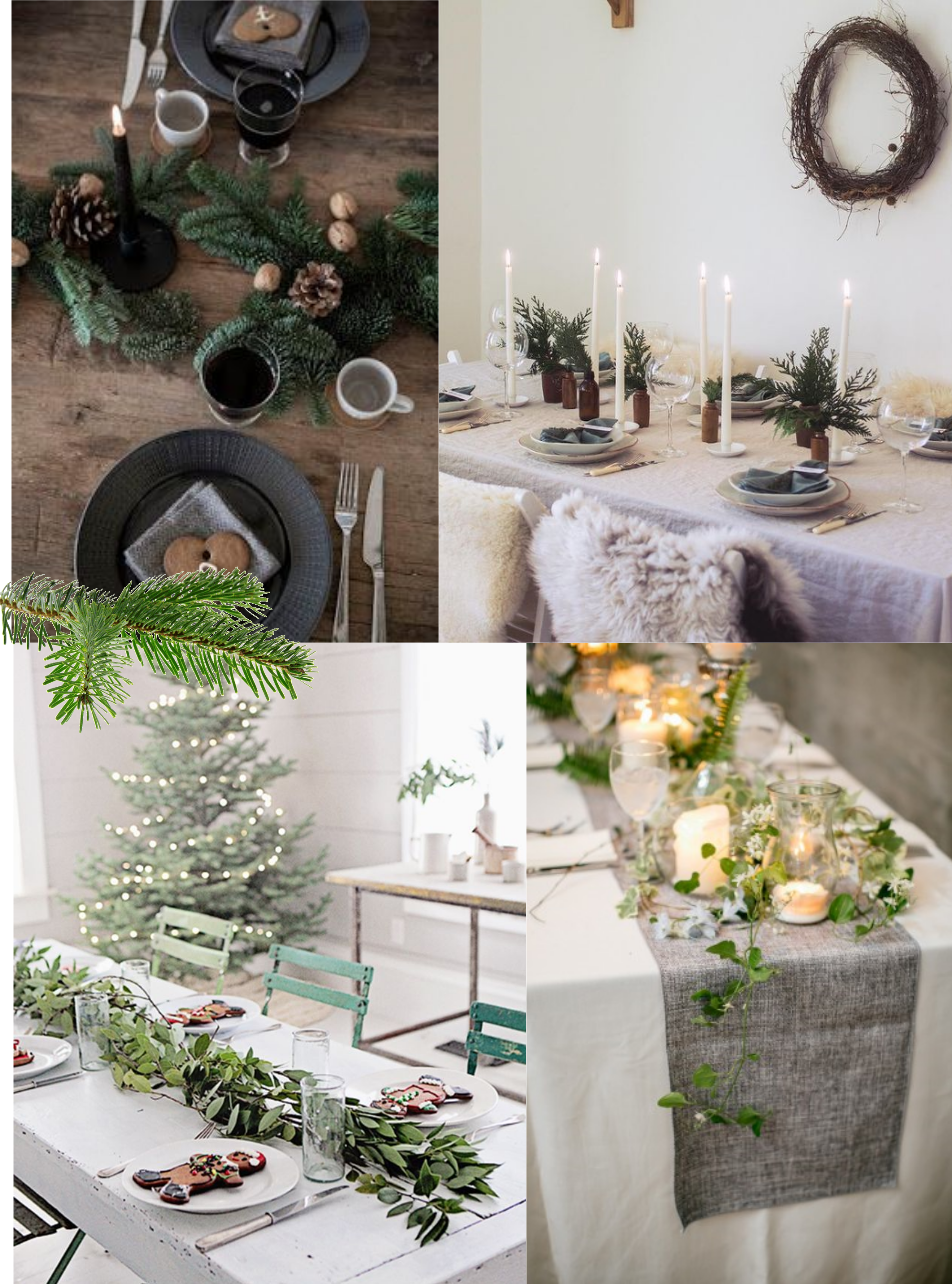 table-theme-fetes-noel-christmas-nature-feuilles-bougie-bois