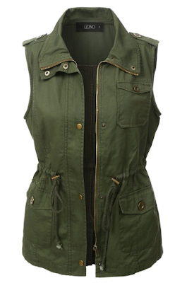 green military jacket no sleeves