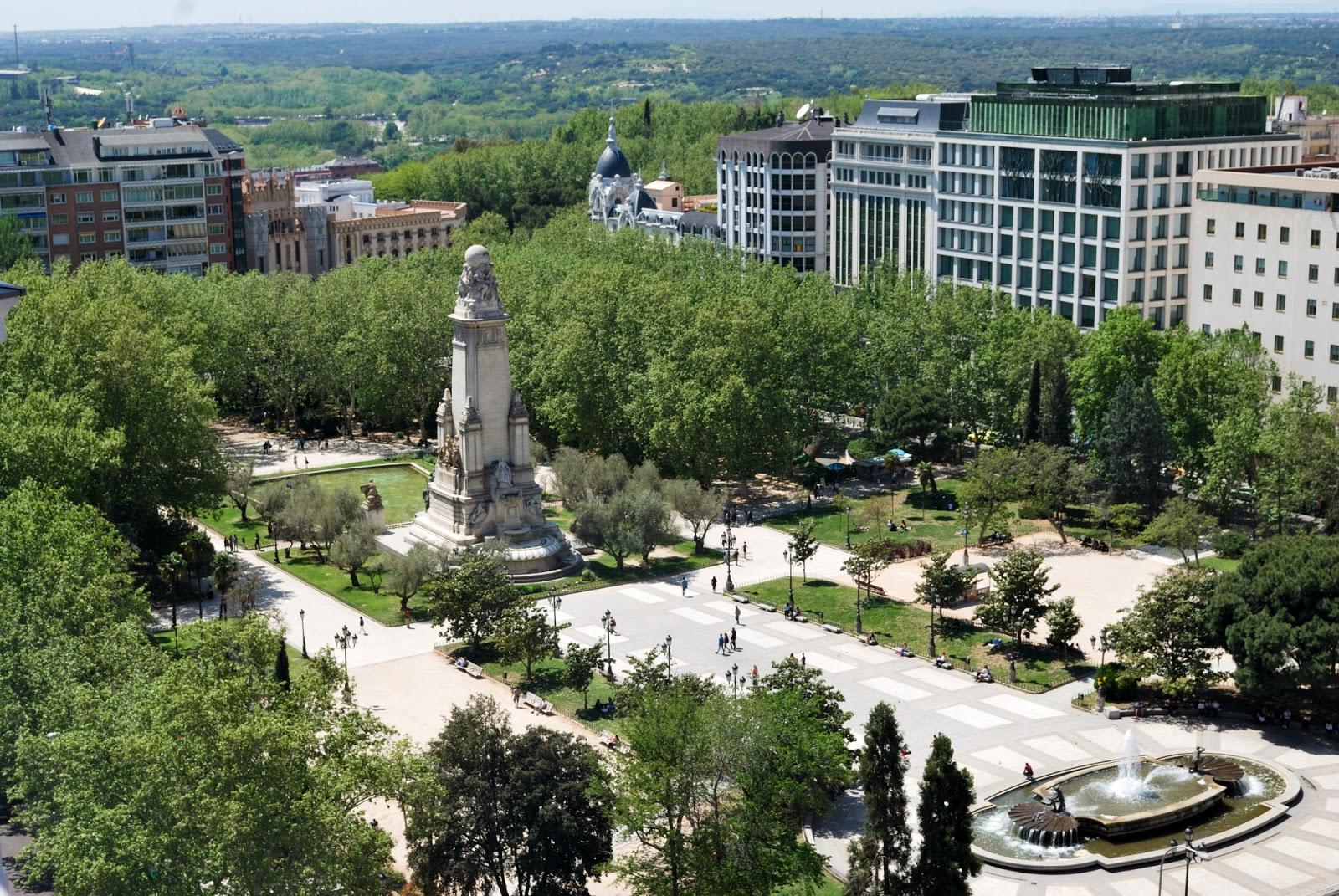 plaza españa gran via madrid spain