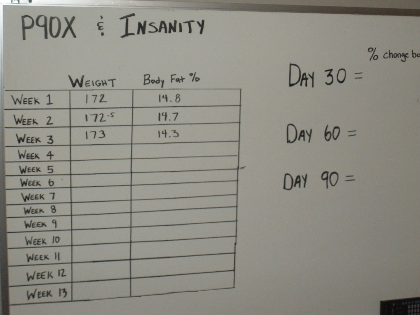 Fitness 2 Freedom Week 2 Results From P90x And Insanity
