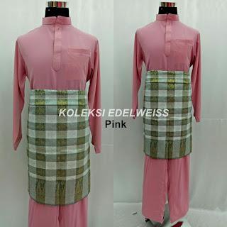 Baju Melayu Cekak Musang Pink