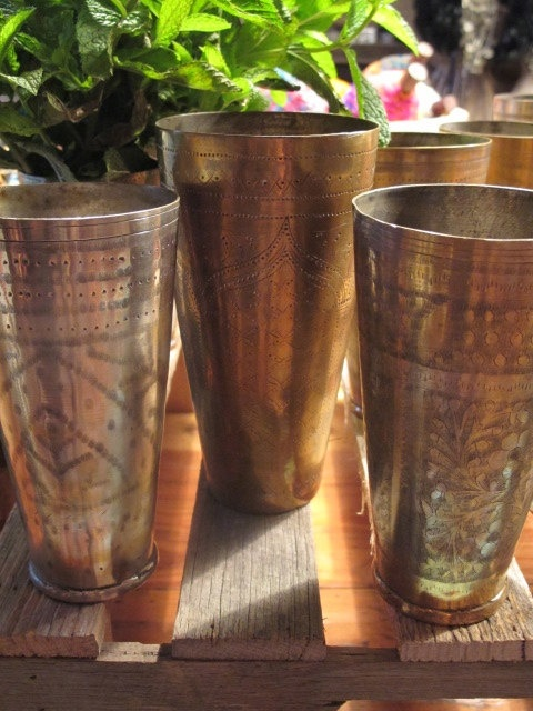 kitchens of india kitchen pantrys moon to moon: vintage silver and brass lassi cups