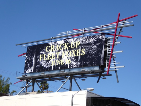 Crack up Fleet Foxes billboard