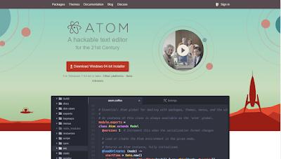 Instalasi ATOM text editor