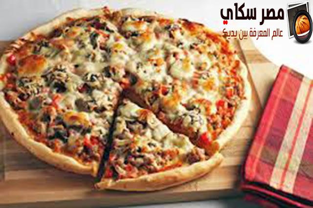 طريقة عمل  بيتزا المشروم فى المنزل
