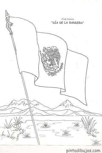 Bandera Mexicana para colorear los niños