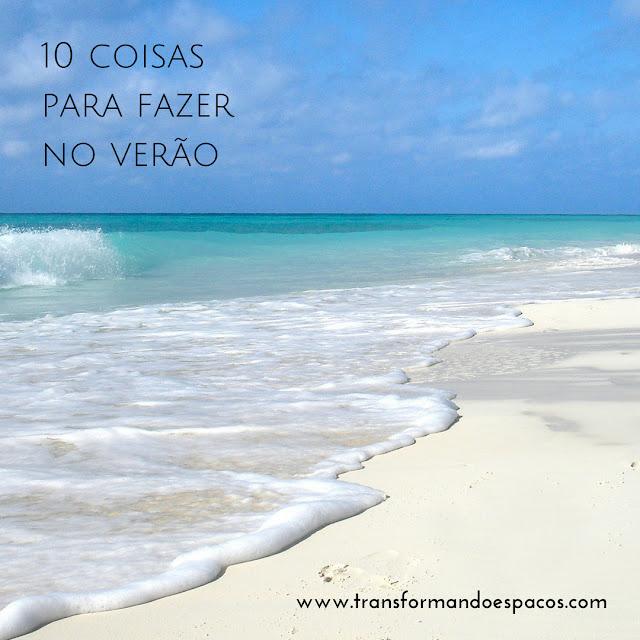 10 coisas para fazer no verão