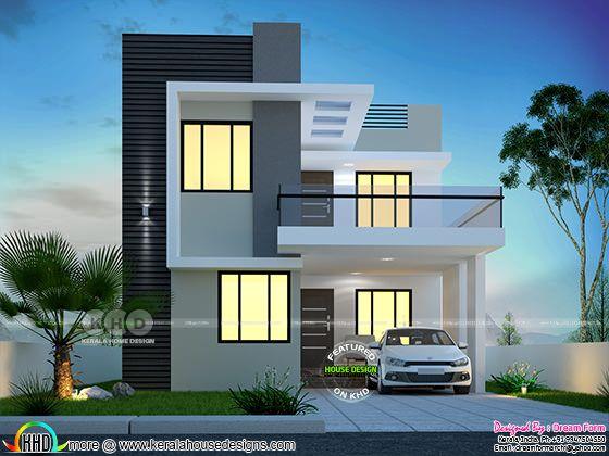 3 bedroom 1650 sq-ft modern home design