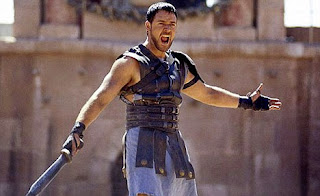 gladiator 2001 ridley scott russel crowe the spaniard shout screenshot