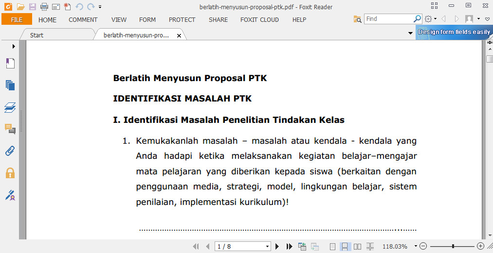 Konsep, Proposal Penyusunan Penelitian Tindakan Kelas lengkap dengan Pemahaman