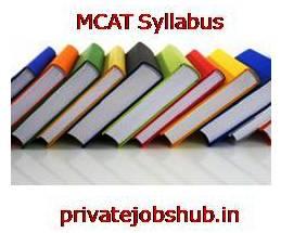 MCAT Syllabus