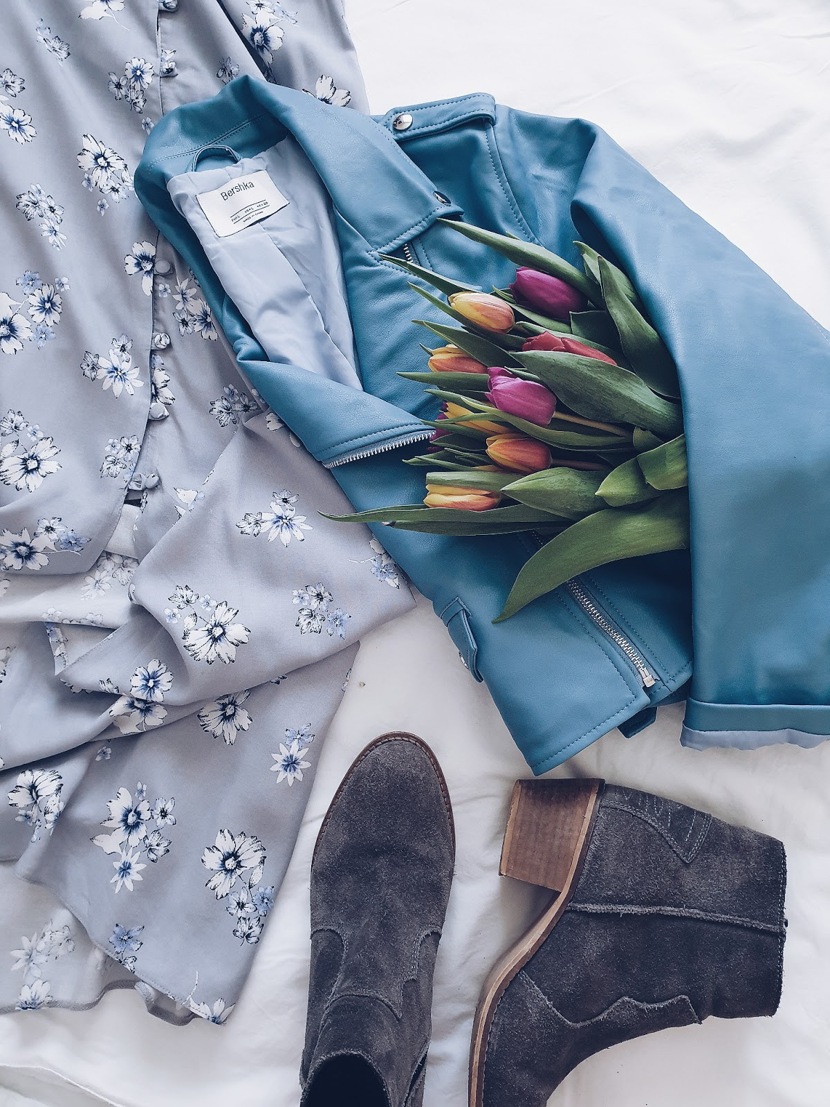 Total blue look czyli idealna maxi sukienka
