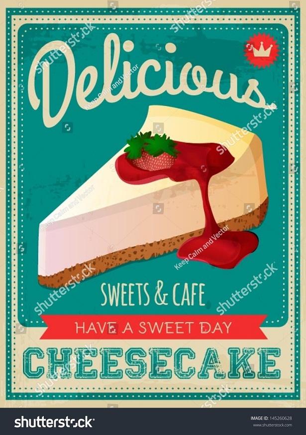 """Poster """"Cheesecake - berbagaireviews.com"""