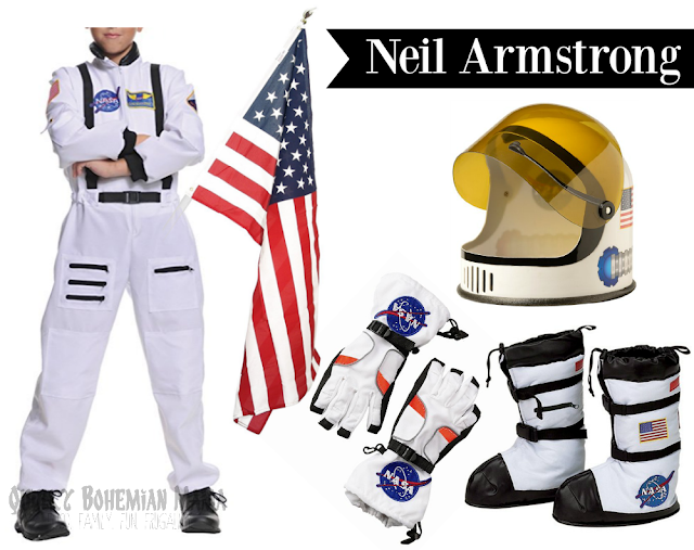 Boy's toddler Neil Armstrong astronaut spacesuit realistic costume