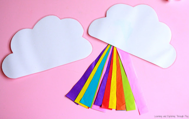 Rainbow Streamer Craft. Rainbow Crafts for Toddlers and Preschoolers.