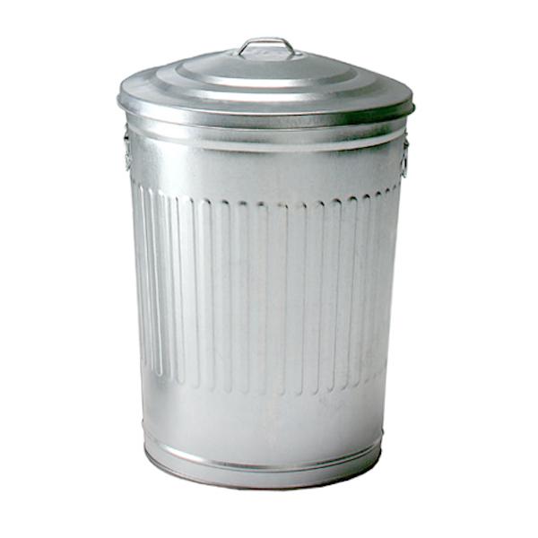 巨大なブリキのゴミ箱 ブリキダストビン 79リットル 大型ダスト BOX ダストボックス ごみ箱 フタ付き ブリキ ブリキ缶 缶 ハンドル付き ガーベージ缶 Garbage can  ディスプレイ 店舗什器 シルバー 金属製 資源ごみ 資源ゴミ