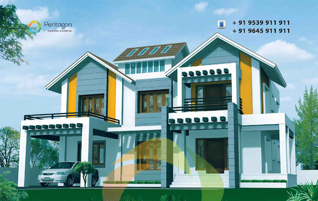 luxury 4 bedroom house plans indian style, 4 bedroom house plans kerala