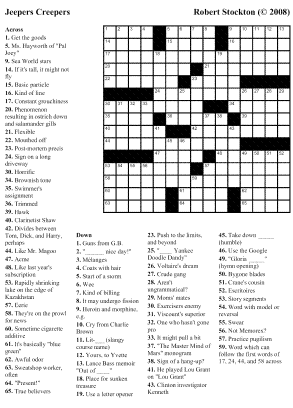 Thanksgiving Crossword Puzzles For Middle School Students