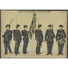 Le drapeau des bataillons scolaires (réseau CANOPE-MUNAE)
