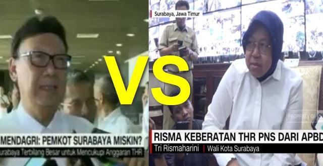 Mendagri VS Risma, Buntut Kebijakan Jokowi THR PNS dari APBD