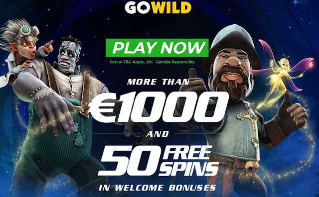 GoWild Casino welcome bonus and free spins