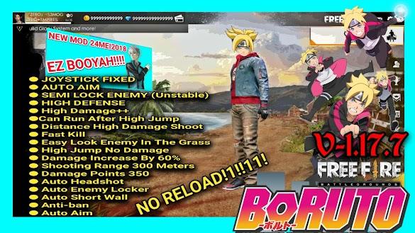 BORUTO MOD FREE FIRE APK 1.17.7 •FREE FIRE• 100%Work NO ROOT!   UPDATE