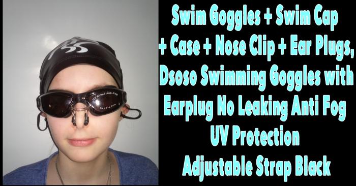 swim goggles swim cap case nose clip ear plugs dsoso