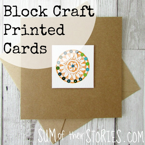 using block craft blocks to make greeting cards