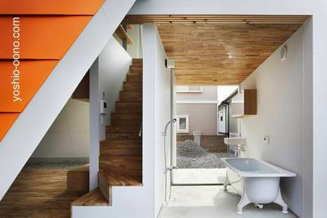 Detalle arquitectónico en una casa japonesa en Wakayama