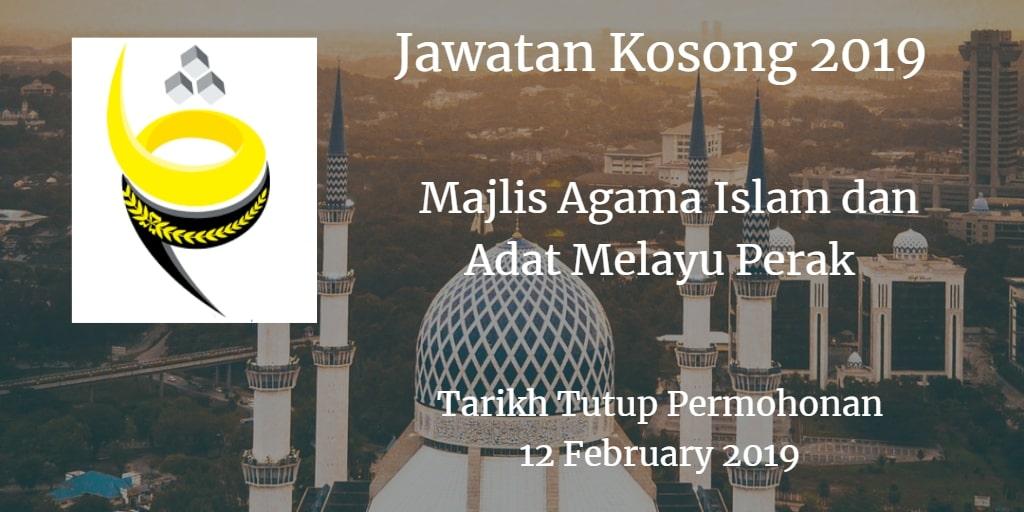Jawatan Kosong MAIPk 12 February 2019