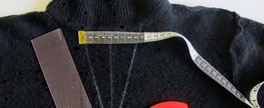 mesurer le centre du vêtement