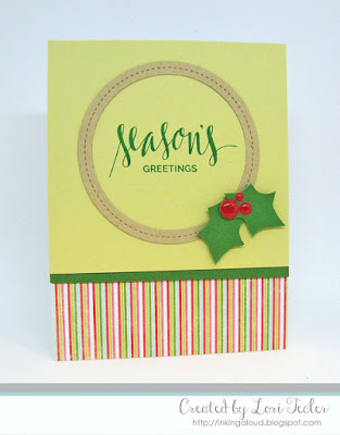 Season's Greetings card-designed by Lori Tecler/Inking Aloud-stamps and dies from My Favorite Things