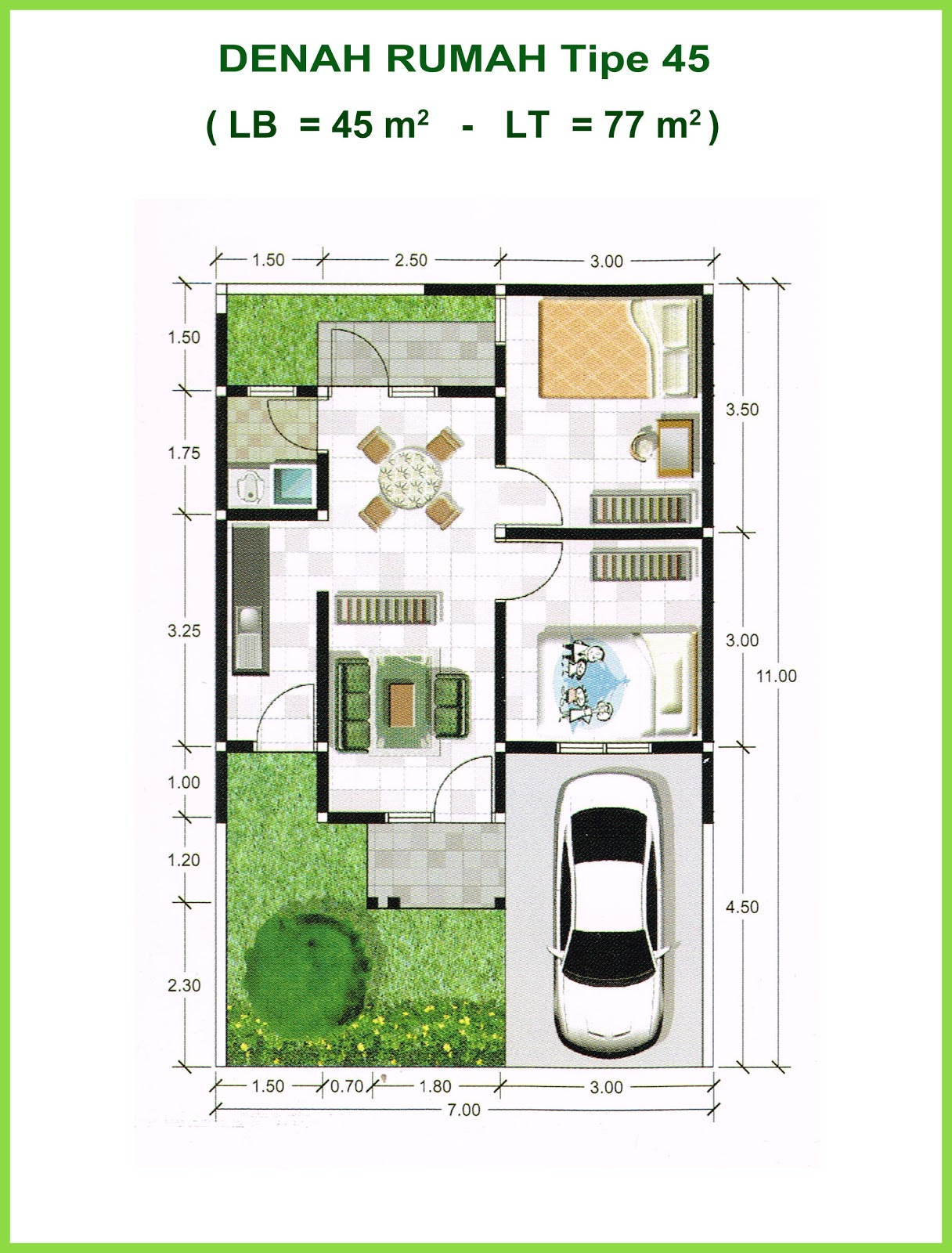 Denahose Rancangan Denah Rumah Type 36 Huk