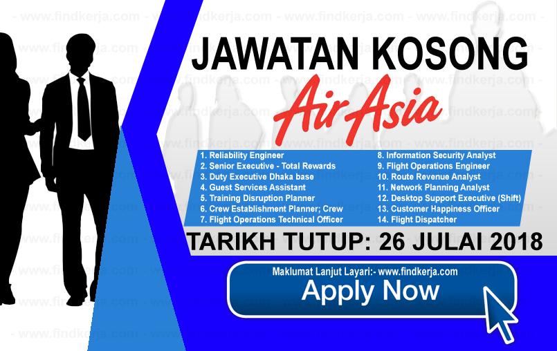 Jawatan Kerja Kosong AirAsia Berhad logo www.ohjob.info www.findkerja.com julai 2018