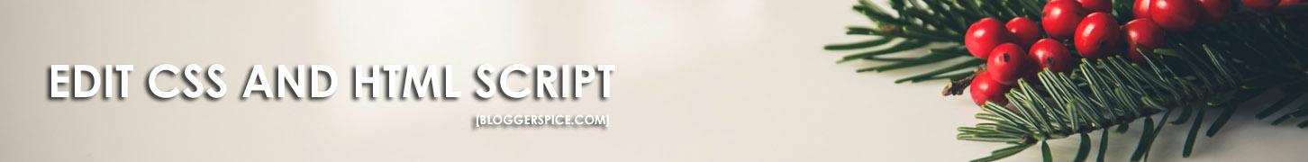HTML Editor of BloggerSpice.com