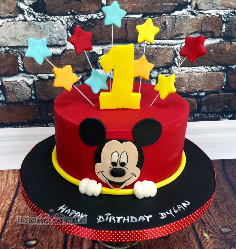 The Perfectionist Confectionist Dylan Mickey Mouse 1st Birthday Cake