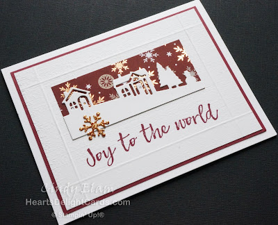 Heart's Delight Cards, Hearts Come Home, Hometown Greetings Edgelits Dies, Christmas Card, Stampin' Up!