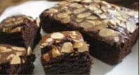 resep membuat brownies panggang coklat almond