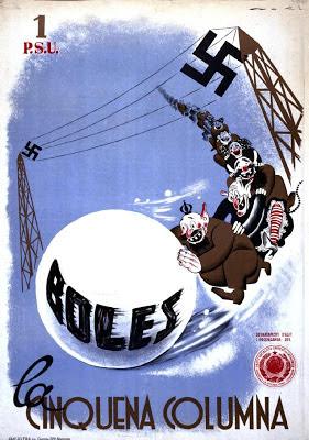 Boles, La Cinquena Columna Spanish Civil War poster by Lorenzo Goñi