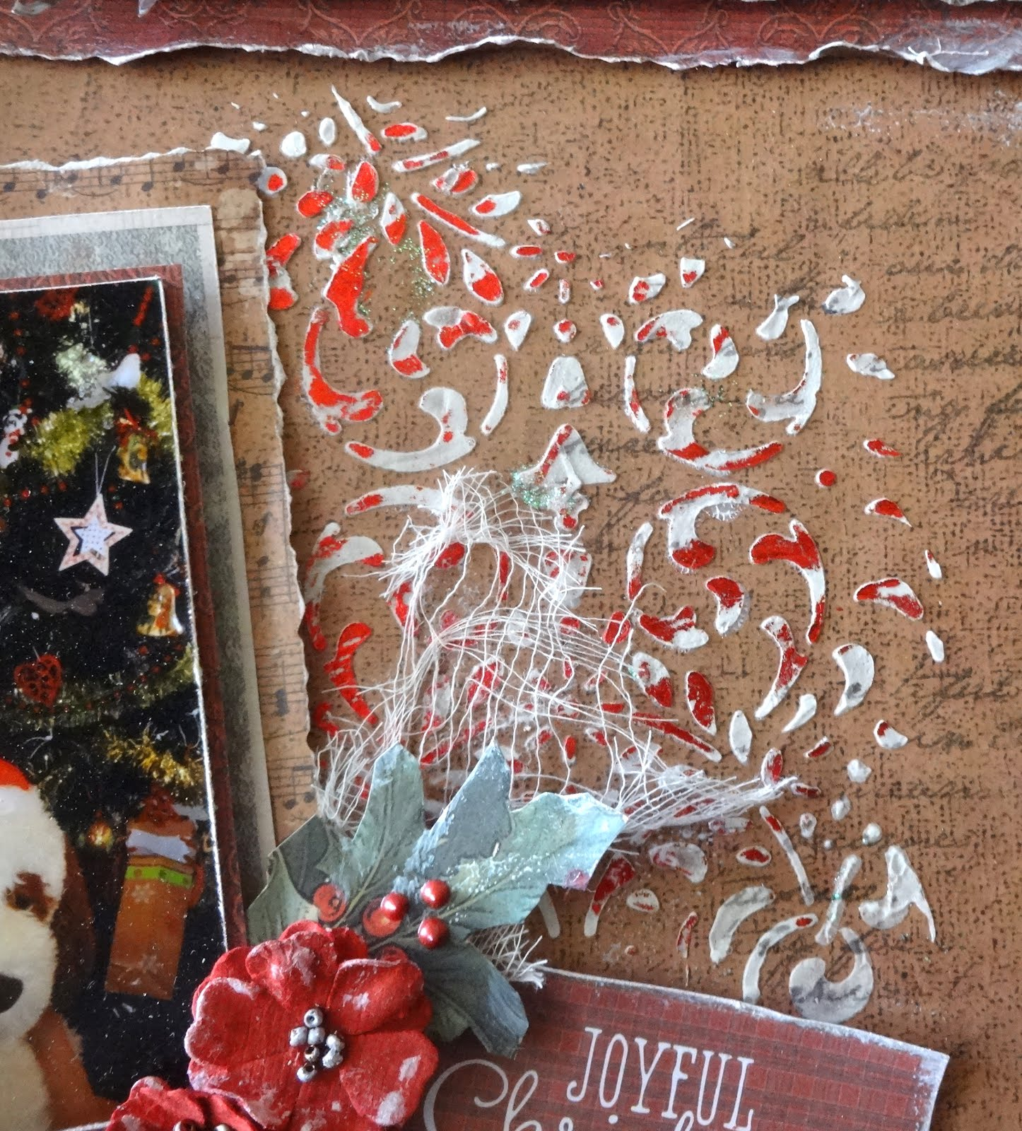 Joyful Christmas Layout with Adriana | Couture Creations