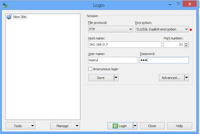 Cara Installasi dan Konfigurasi FTPS (Secure) Debian 9 Dengan Proftpd 6