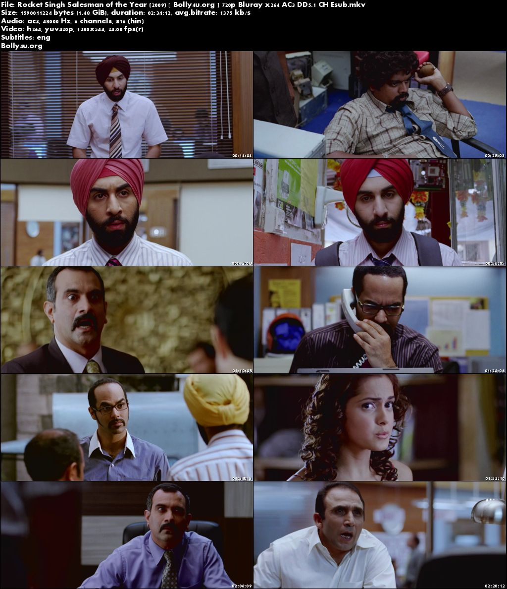 Rocket Singh Salesman of the Year 2009 BRRip 400MB Hindi 480p Download