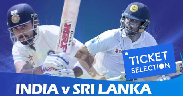 India vs Sri Lanka: Ticket Booking for Test Matches 2017