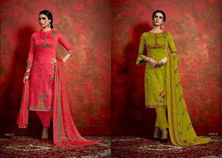 Aaa Designer Noor Cotton dress Material Summer wear 2019
